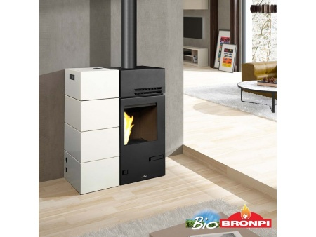 "Combinated fireplace ""Bronpi CAROL-MIXTA"" 10-15kw"